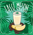 melon indian drink lassi with fresh juice vector image vector image