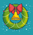 merry christmas kawaii concept vector image vector image