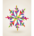 Merry Christmas multicolors snowflake vector image vector image