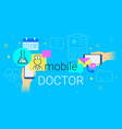 mobile doctor and medicine research results on vector image vector image