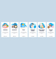 morning routine website and mobile app onboarding vector image