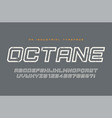 octane display typeface font alphabet vector image