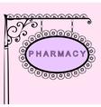 pharmacy retro vintage street sign vector image vector image