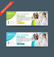professional green and blue web banners vector image vector image