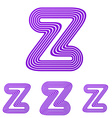Purple z letter logo design set vector image vector image