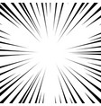 radial lines comic book speed explosion vector image vector image