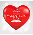 Red Heart Valentines Day And Bokeh Background vector image