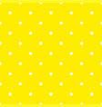 seamless pattern with white polka dots on yellow vector image vector image