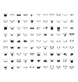 Set 99 different pieces of doddle emotions to vector image vector image