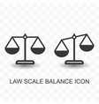 set law scale balance icon simple flat style vector image vector image