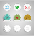 share buttons made of paper vector image