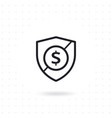 shield security icon vector image vector image