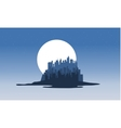 Silhouette of city in islands vector image vector image
