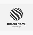 sphere logo design template for business global vector image vector image