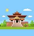 temple heaven icon isolated on white background vector image vector image