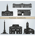 toulouse landmarks and monuments vector image vector image