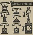 Vintage phone II vector image vector image
