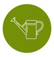 watering can icon in thin line style vector image