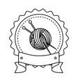 yarn ball icon vector image