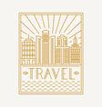 travel poster design template vector image