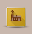 church with bell icon vector image