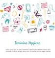 Sketch Feminine hygiene banner design with tampon vector image