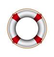 lifebuoy with rope lifebelt realistic vector image