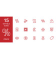 15 price icons vector image vector image