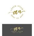 a a initials monogram logo design dry brush vector image