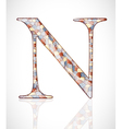 Abstract letter N vector image vector image