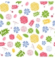 Abstract Natural Flower Seamless Pattern vector image