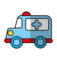 ambulance vehicle isolated icon vector image vector image