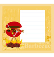 Barbecue Party Invitation vector image vector image