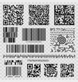 barcodes and qr codes vector image