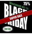 Black Friday banner template design vector image