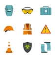 Building tools icons set flat style vector image vector image