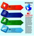 Business infographics four options steps vector image