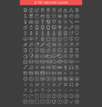 collection of icons hand-drawn effect vector image vector image