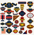 collection or set labels ribbons vintage style vector image vector image