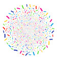 confetti festival spheric cluster vector image vector image