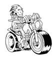 contour biker pattern on white background vector image vector image