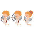 cupids with bow and arrow vector image
