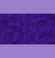 dark violet purple triangular low poly mosaic vector image