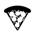 delicious pizza isolated icon vector image vector image