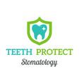 dental stomatology clinic badge icon vector image