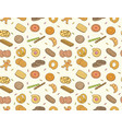 doodle cookies and biscuit seamless pattern vector image vector image