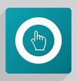 flat pointer pixel cursor icon vector image vector image