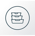 food containers icon line symbol premium quality vector image vector image