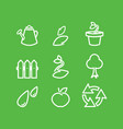 gardening flat icons set vector image vector image