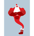 Genie Santa Claus Magical Christmas spirit of vector image vector image